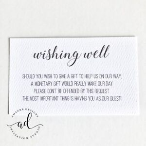 10 X White Wishing Well Cards Simple Wishing Well For Wedding