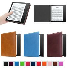 CaseBot Leather Case Cover For New Amazon Kindle Oasis E-reader 7