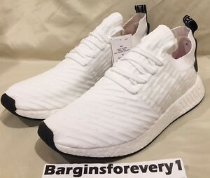 New-Men-039-s-Adidas-NMD-R2-PK-BY3015-Size-13-White-Black