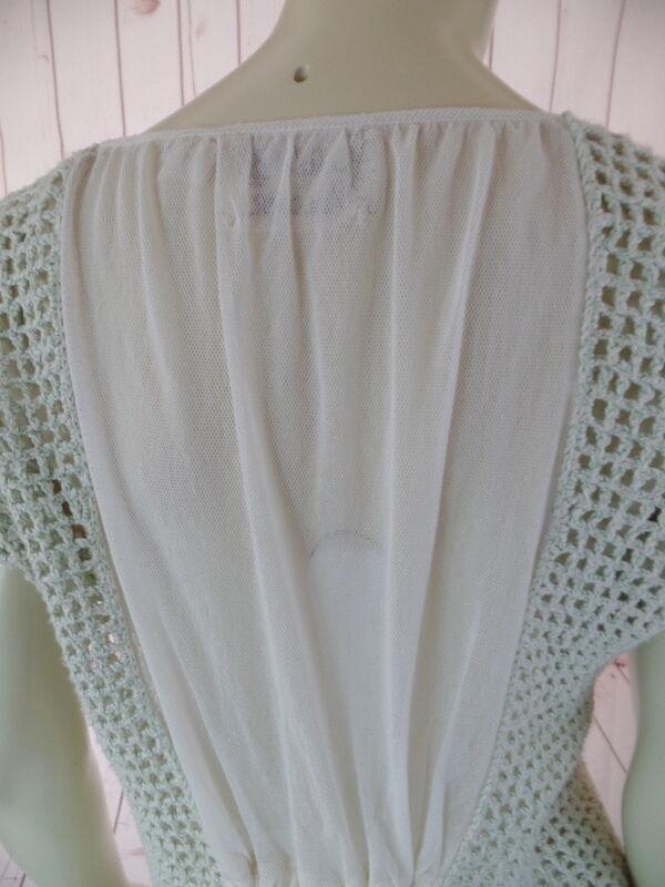 Field Flower Anthropologie Sweater Vest XS Mint G… - image 7