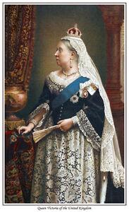 QUEEN VICTORIA OF THE UNITED KINGDOM PRINT BRITISH MONARCHY