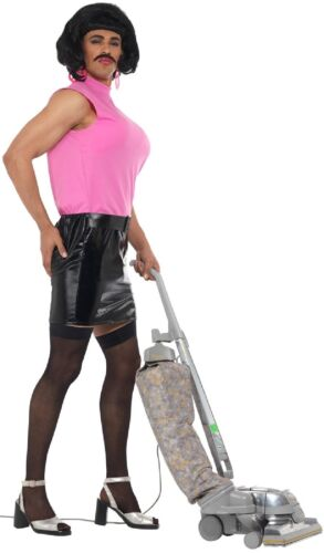 Mens Tarty Housewife Drag Queen Funny Stag Do Night Fancy Dress Costume Outfit