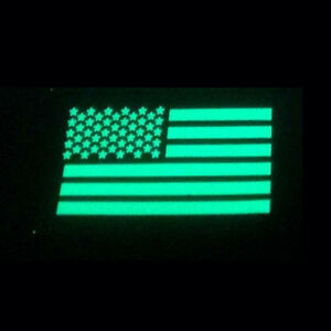 db37b97632e GRAY LEFT IR US FLAG Reflect Tactical Army Morale Hook PATCH GLOW IN ...