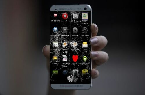 Transparency Decal To Make Mobile Phone Screens Appear Cracked! Cracked Screen
