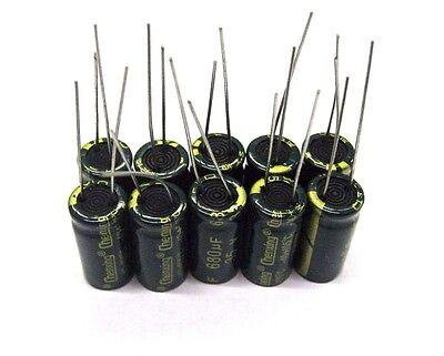 35V680UF 10PCS Electrolytic Capacitor Nichicon SIZE 10*20mm 680UF35V