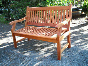 Das Bild Wird Geladen NEW JERSEY Gartenbank 3 Sitzer Bank Holz Hartholz