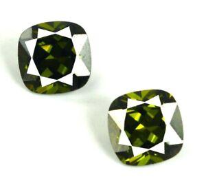 100-Natural-10-50-Ct-Cushion-Green-Tourmaline-Gemstone-Pair-AGI-Certified-CE116