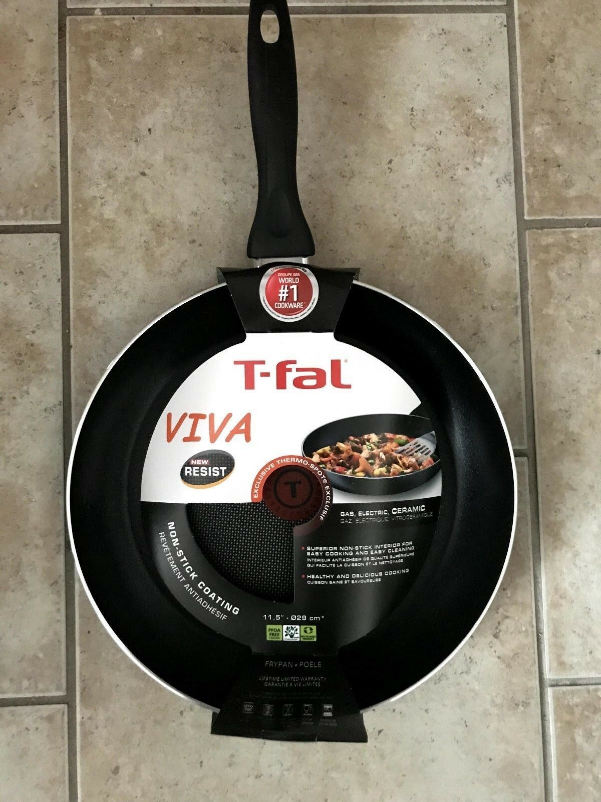 (2) BRAND NEW T-FAL VIVA 29cm AND 30cm FRYING PANS