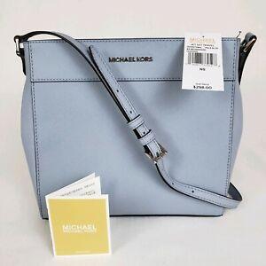 Michael-Kors-Women-039-s-Jet-Set-Travel-Messenger-Crossbody-Bag-Purse-Pale-Blue-298