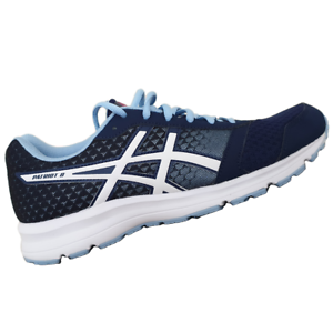 ASICS-WOMENS-Shoes-Patriot-8-Indigo-Blue-White-amp-Fuchsia-Purple-T669N-4901