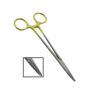 Chirurgisch-Nadelhalter-Crile-Holz-mit-Wolfram-Gezaehnt-Hartmetall-Spitze-Ce