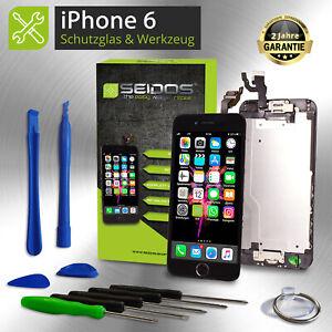 Display-fuer-iPhone-6-mit-RETINA-LCD-Glas-VORMONTIERT-Komplett-Front-SCHWARZ-NEU