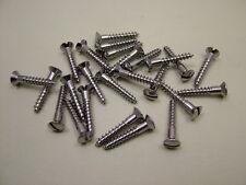 """Nickel plated brass woodscrews raised head screws No.8 x 1"""" (4 x 25mm) pack 25"""