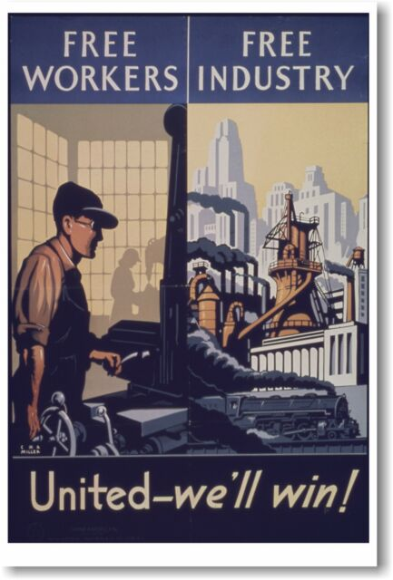 vintage brick making poster for BRITISH AIRWAYS factory INDUSTRY 24X36 new