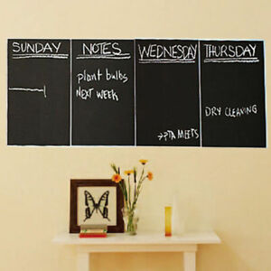 4pcs-Chalkboard-Black-Contact-Paper-Wall-Sticker-Decal-Erasable-20x30cm