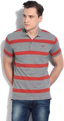 United Colors of Benetton Striped Mens Polo Neck T-Shirt- C7Y