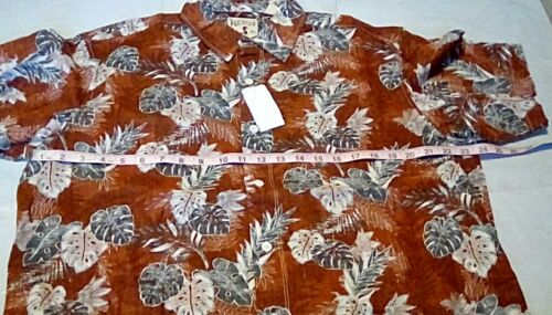 NEW RedHead Palms Print Short Sleeve Hawaiian Shirt Size Large