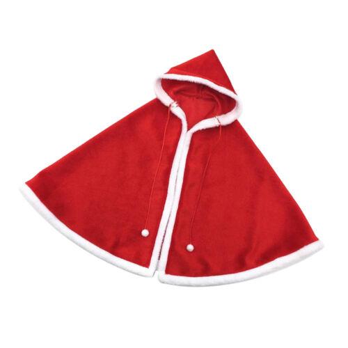 1:6 Christmas Cloak Xmas Cape Clothes for 12inch Kumik Action Figure Body