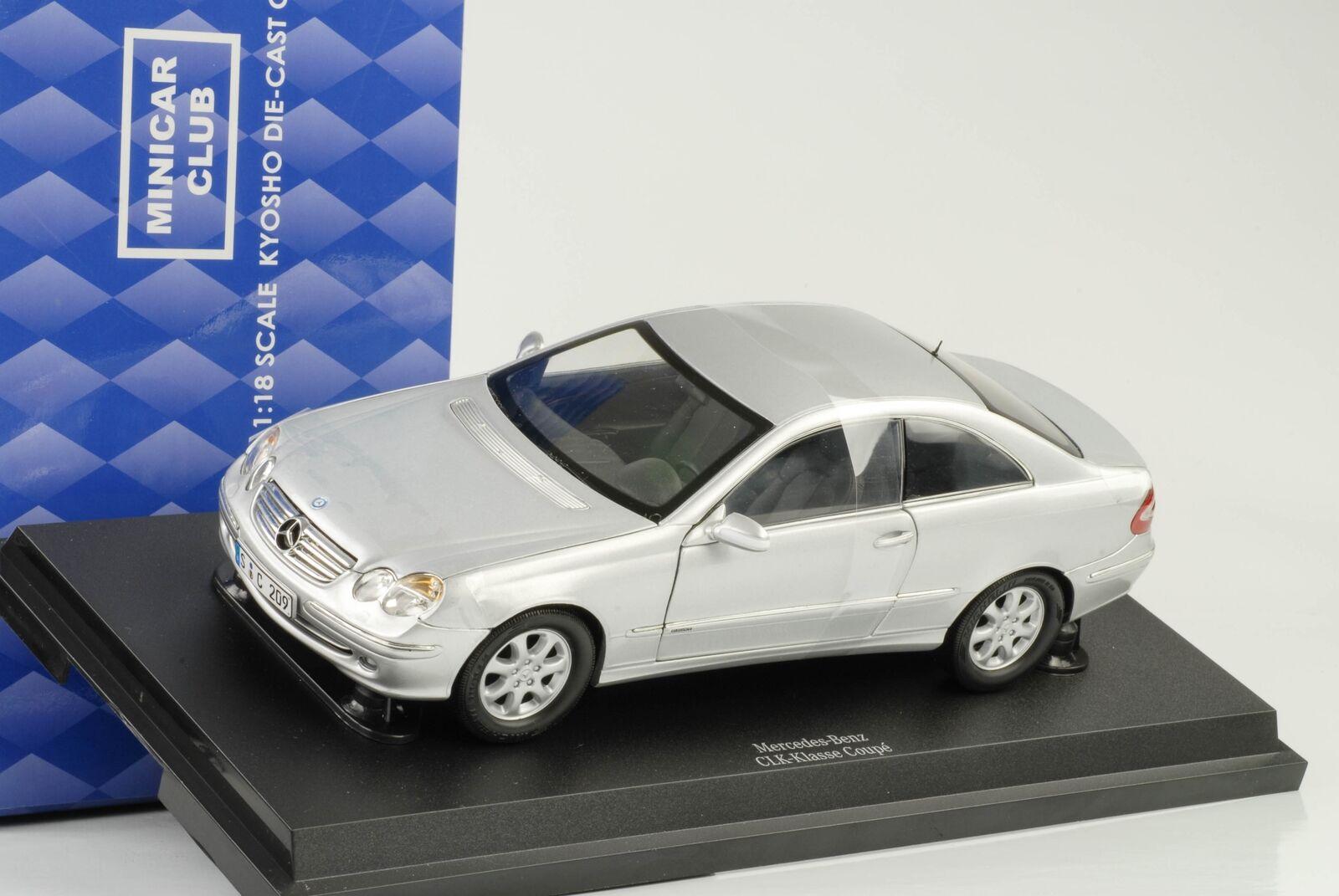 2009 Mercedes-Benz CLK c209 Coupe argent 1 18 Kyosho QUALITE