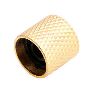 gold plated metal tone control volume knob for electric guitar bass parts chrome ebay. Black Bedroom Furniture Sets. Home Design Ideas