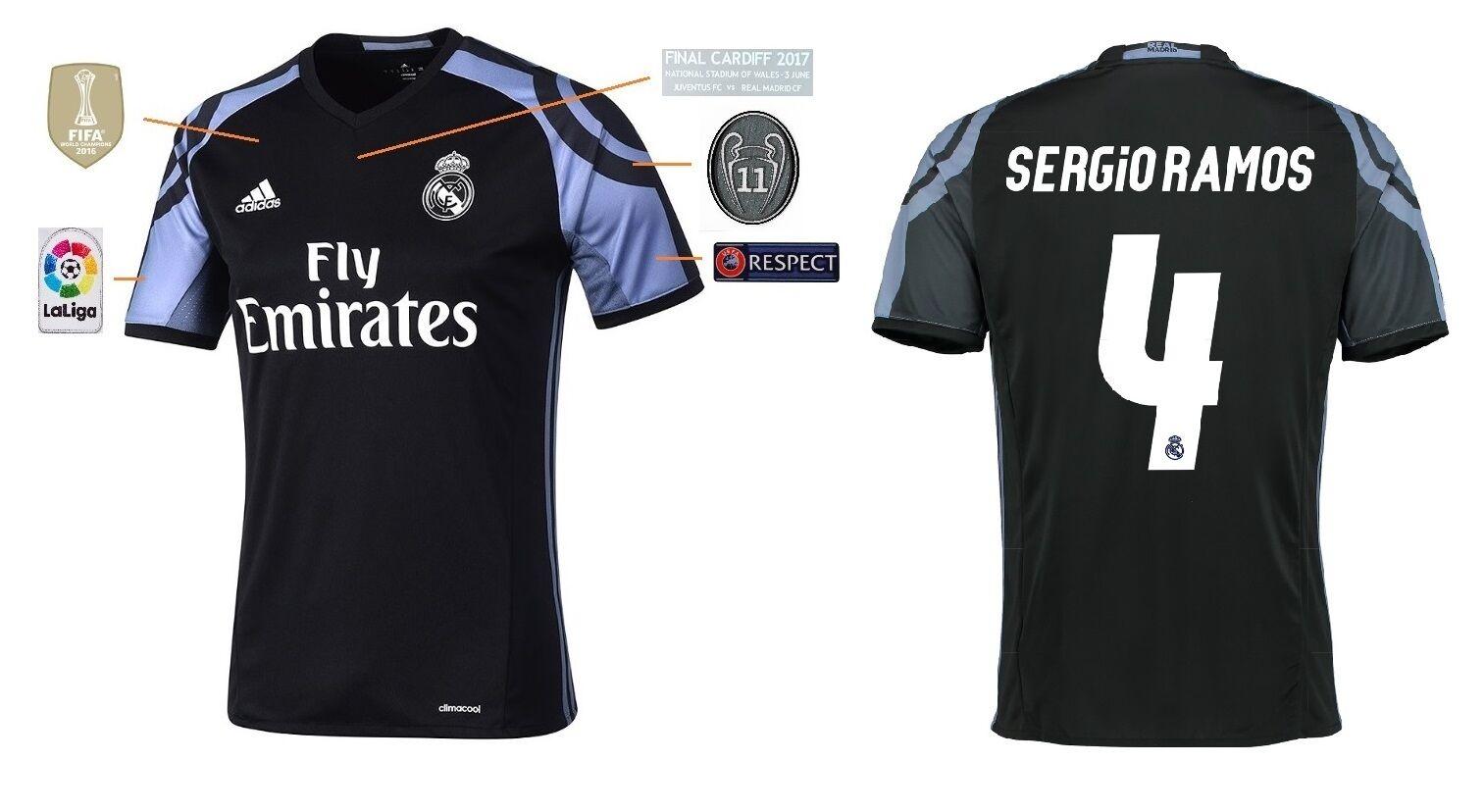 Trikot Real Madrid Third Champions League Final Cardiff 2017 - Sergio Ramos 4