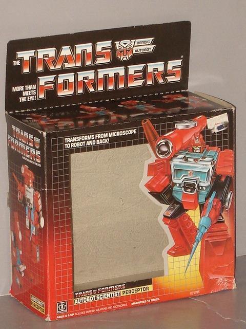 G1 transformator autobot - perceptor leere kiste viel   3  gut in form