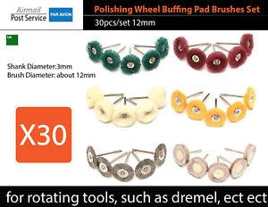Bit-fit-Dremel-Finishing-Abrasive-Buffs-512E-511E-428-Steel-Brush-felt-polishing