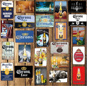 Corona 20x30 Extra Beer Metal Wall Poster Signs Pub Bar Home Decor