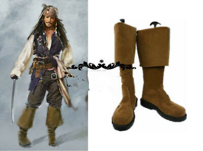 Pirates of the Caribbean Jack Sparrow Cosplay Boots Shoes Halloween:s