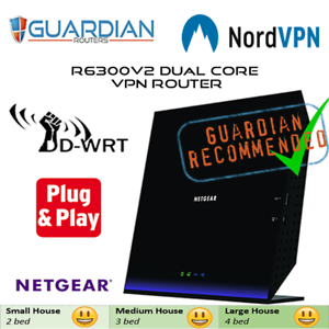 Details about Netgear R6300v2 ddwrt Nord VPN Router works on all ISPs inc  Sky Q and Virgin