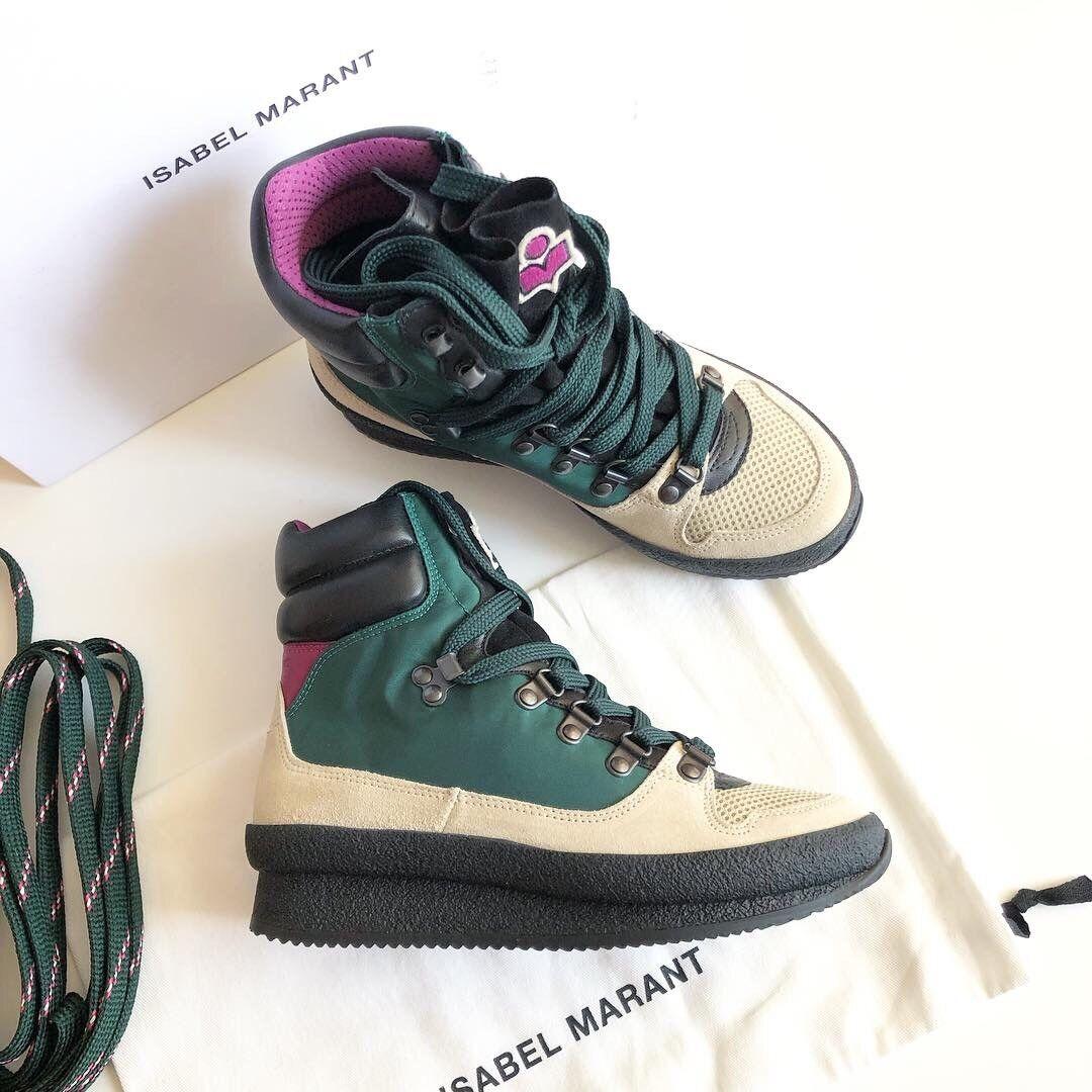 Isabel Marant Brendta Leather   Suede   Mesh  scarpe da ginnastica Beige   Emerald 36 NIB  controlla il più economico