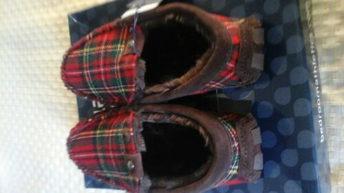Slippers Tartan green Red Lined 7 Sole bedroom Gerard 6 Driving Fit Athletics 7w61tx