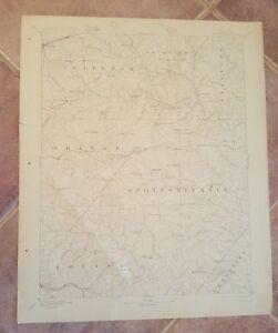Topography Map Of Virginia.Topography Map State Of Virginia Spottsylvania 1907 Ebay