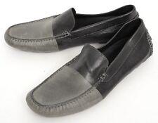 Mens DONALD J PLINER Dannel Black/Gray Leather Driving Loafers Shoes 8 $185!