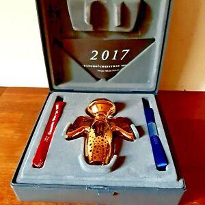 New Box Danish Georg Jensen 1987-2017 Christmas Mobile Gold Plated Snowflake