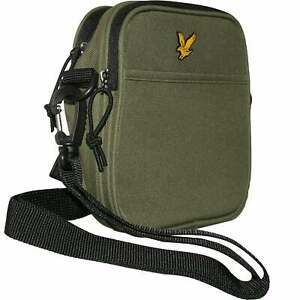 5db31d3fb380 Details about Lyle & Scott Front-Pocket Fabric Reporter Bag, Woodland Green