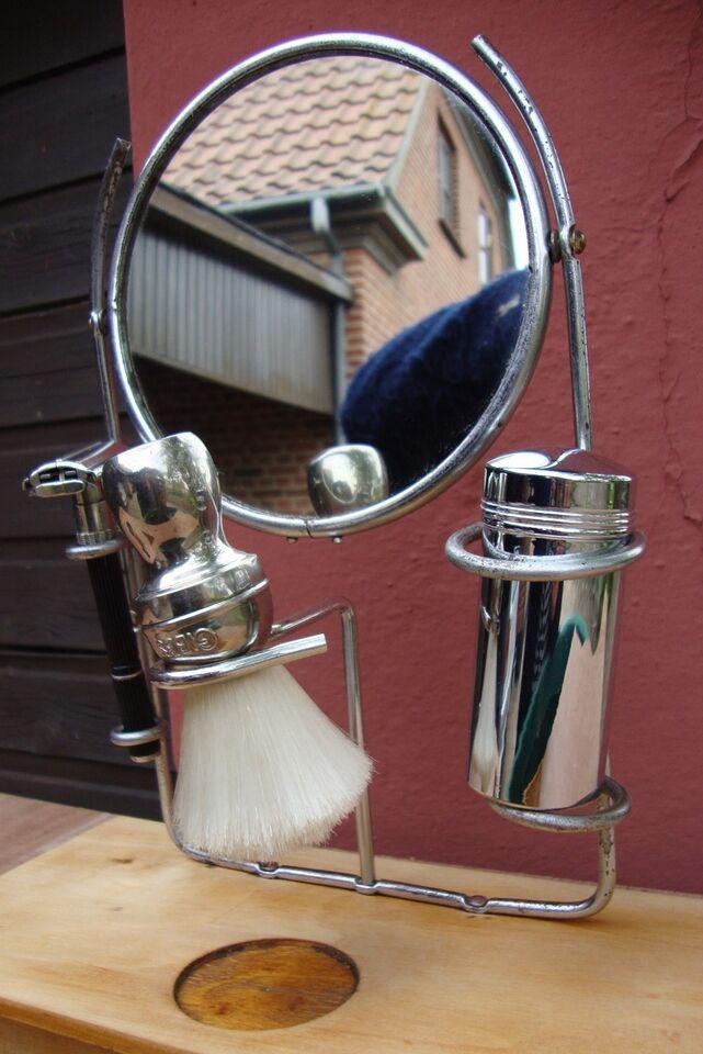 Barberspejl Gillette eller straight razor