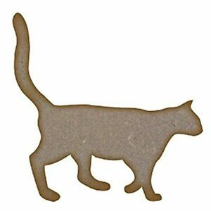 image is loading 1 x mdf wooden cat shape cutout laser