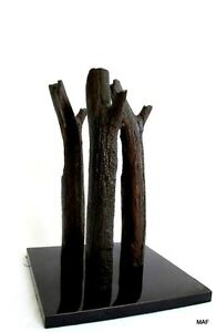Lost-Wax-Bronze-Cast-Driftwood-034-On-Three-Days-Rest-034-Sculpture-Original-Unique