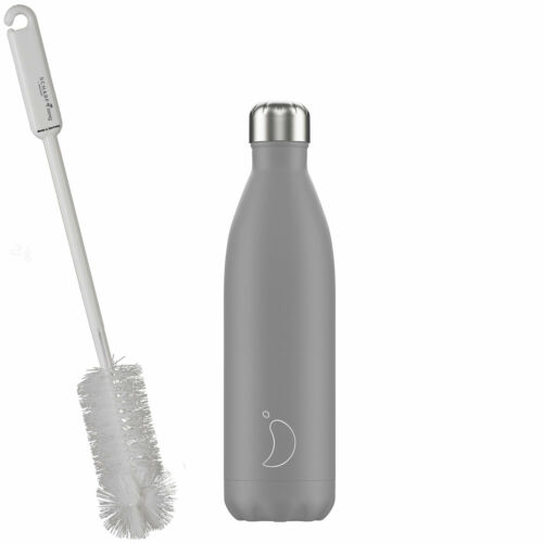 perspicace Bouteilles Brosse Chillys Isolierflasche /& Bouteille Mono grey