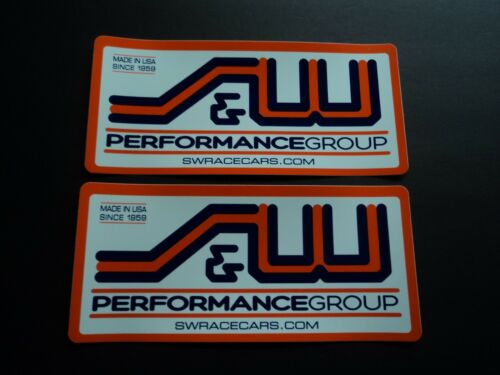 Lot of 2 Original S & W Race Cars Drag Racing Decals Stickers NHRA Large Size