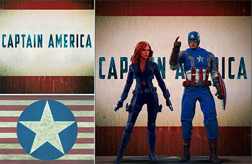 POSTER BACKDROP~CAPTAIN AMERICA~CIVIL WAR AIRPORT FIGHT FOR 1//6 FIGURES IRON MAN