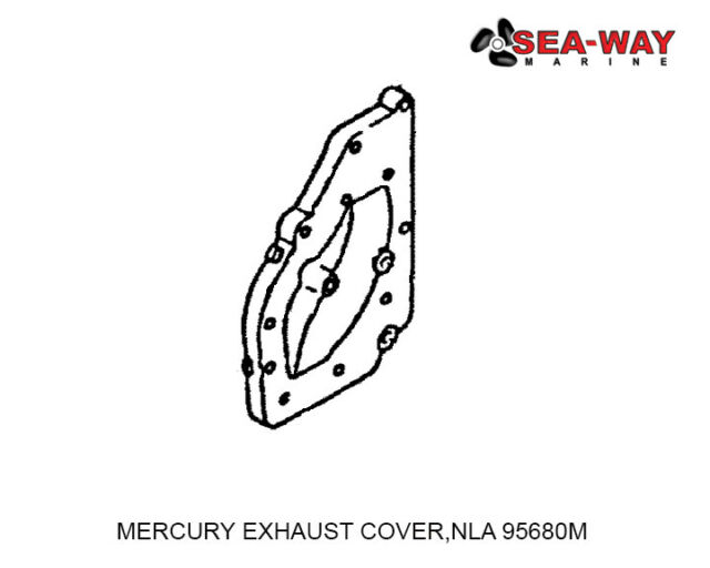 MERCURY EXHAUST COVER,NLA 95680M