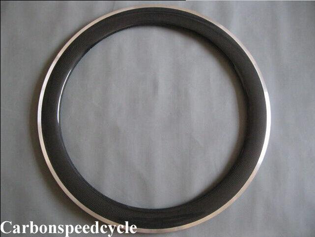 1pcs x Aluminium braking surface 23mm width 60mm clincher carbon bike rim