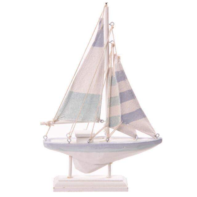 Nautical Wooden Seaside Shabby Chic Sailing Boat Decorative Ornament