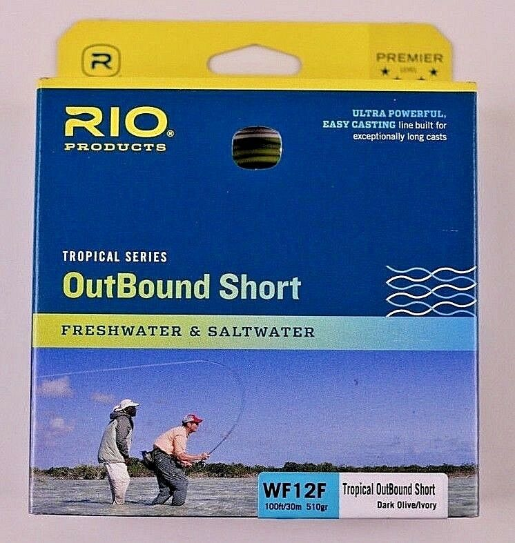 Rio OutBound Short WF12F Fly Line Dark Olive Ivory Free Fast Shipping 6-21834