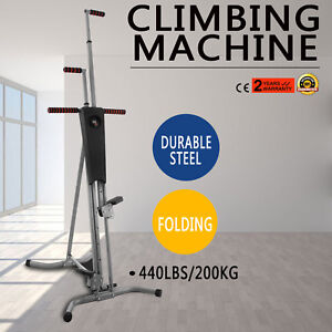 LCD Gym Climber Stepper Climbing Machine Steel Cardio Workout Fitness Gym