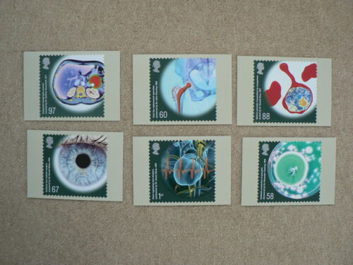 Medical Breakthroughs 2010, 6 x PHQ Stamp Cards, FDI Special HS Back
