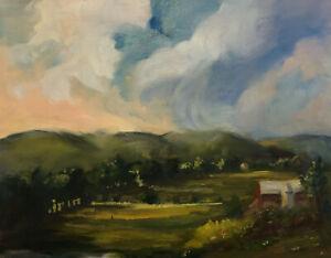 Colorful-Impressionism-Farm-Valley-Oil-Painting-Marina-Movshina-16x20-034