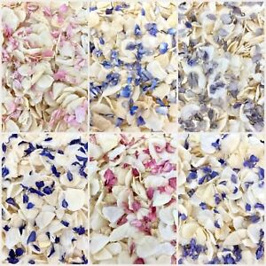 Biodegradable-Delphinium-WEDDING-CONFETTI-Dried-IVORY-FLUTTER-FALL-Real-Petals